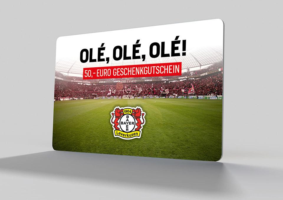Bayer 04 Leverkusen Gutscheinkarte